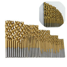 50Pcs Titanium Coated HSS Steel Drill Bit Set 1/1.5/2/2.5/3mm Metal Plastic Wood