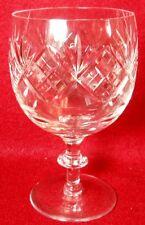 """WEBB CORBETT crystal WEC67 FAN & CRISSCROSS Water Goblet - 5-1/8"""""""