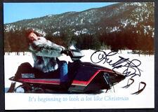 ORIGINAL Vintage LORETTA LYNN 1989 Christmas Card / SIGNED Autograph Photograph