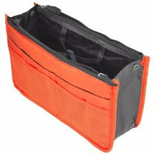 Orange Travel Storage Case Zipper Organizer Hand Bag Makeup Cosmetic Toiletry