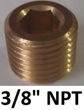 "BOSS 3/8"" NPT brass bung stopper plug for air compressor & tank"