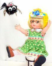 "Little Miss Muffet Ann Estelle OOAK 10"" Doll w/Spider + Stool Tonner Engelbreit"
