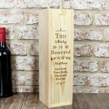 Personalised Reserved For Alcohol Bottle Presentation Box - Wine, Whiskey, Vodka