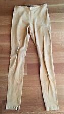 BALENCIAGA LEATHER Suede Beige Skinny Leg Pants side Ankle Zippers $1,595 Sz 42