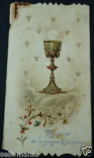 OLD FIRST COMMUNION REMEMBRANCE HOLY CARD . SEE MORE IN MY EBAY SHOP  CC1192