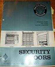 Security Fire Door ASBESTOS  ALSTEEL Catalog 1970