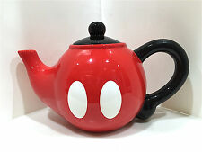 Disney Parks Mickey Mouse Pants Ceramic Teapot Tea Pot NEW