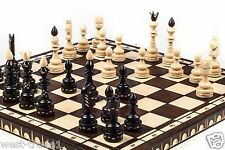 Brand New ♜ Luxury Hand Carved Indian Wooden Chess Set 53cm x 53cm ♞