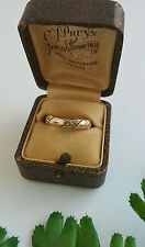 Vintage14k Yellow gold decorated Flower and Scroll Wedding Ring 4.4 g. size 6.75