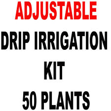 50  PLANTS - D.I.Y. DRIP IRRIGATION KIT WITH ADJUSTABLE EMITTERS