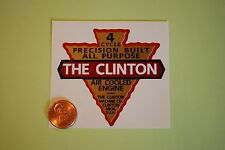 #C4 Clinton 4 Cycle engine decal repro small Michigan