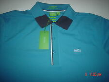 NWT BOSS HUGO BOSS GREEN LABEL MOISTURE MANAGER SLIM FIT MEN'S POLO SHIRT SZ.XXL