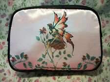 NEW AMY BROWN FAIRY ROSE MAKE UP COSMETIC BAG