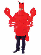 NEW UNISEX RED LOBSTER CRAB FANCY DRESS COSTUME SEA MONSTER ANIMAL OUTFIT ZOO