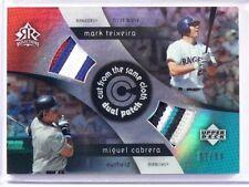 2005 Upper Deck Reflections Mark Teixeira & Miguel Cabrera 4lr patch #d87/99 *38