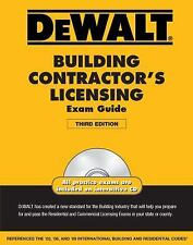 Dewalt Building Contractor's Licensing Exam Guide [With CDROM] by Christopher Pr