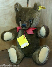 "❤STEIFF ORIGINAL TEDDY BEAR 14"" 0206/36 IDs JOINTED BROWN VNTAGE 1984-90 MOHAIR❤"