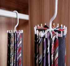 Adjustable Rotating 20 Hook Neck Scarf Ties Organizer Tie Rack Hanger Holder