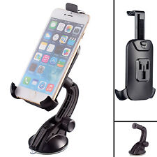 Rigid Multi-Surface PU Dash Car Mount + One Holder For iPhone 6 6s 7 plus 5.5
