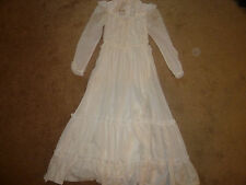 Vintage Gunne Sax Wedding Party Dress, White, Renaissance, Gown, Size S, 2/4