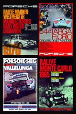 Retro Porsche multi pre1980 Race poster print