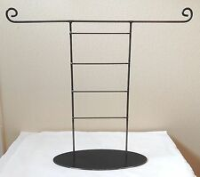 Natural-Finish Wrought Iron Universal Jewelry Necklace Earring Rack Display