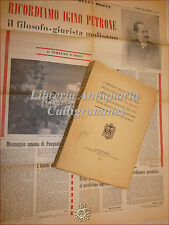 DIRITTO: Omaggio a IGINO PETRONE 1917 Monumento a Limosano Ritratto Articolo