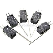 5Pcs Micro Limit Switch Long Lever Arm Miniature SPDT V-153-1C25 Action Home
