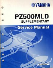 2000 YAMAHA SNOWMOBILE PZ500MLD SUPPLEMENT SERVICE MANUAL (412)