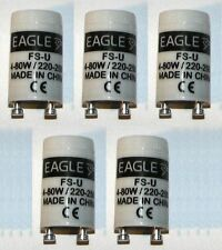 5 X EAGLE BRAND REPLACEMENT FLUORESCENT LIGHT LAMP STARTER S10 FOR 4W TO 80W