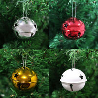 Silver / Gold / Red / White Metal Jingle Bell Christmas Tree Baubles Decorations
