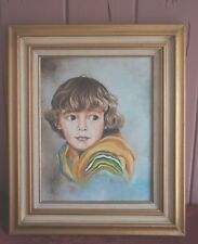 CONTEMPORARY FRAMED PAINTING OF CHILD