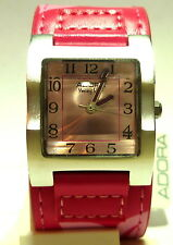 Adora Youngline Watch Aluminium casing Leather band Pink 2582F003