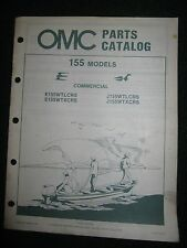 1984 OMC Johnson Evinrude Outboard Parts Catalog Manual 155 HP Commercial
