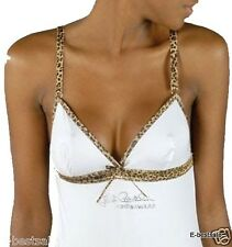 Just Cavalli Top canotta sexy e strass bianco S M L XL