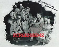 The Wizard of Oz signed photo 2 Munchkins behind/scenes Judy Garland RARE MGM
