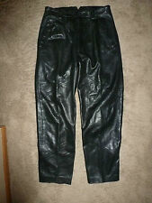 Vintage MARC BUCHANAN Pelle BLACK LEATHER PANTS size 30 (31x30) Baggy Hip Hop D4