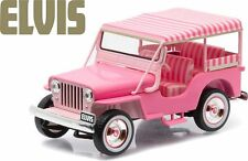 GREENLIGHT 1:43 HOLLYWOOD ELVIS PRESLEY 1960 JEEP SURREY CJ3B Diecast Car 86472