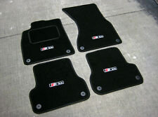 Car Mats in Black to fit Audi A5 LHD (2007-2016) + S-Line Logos (x4) + Fixings