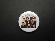 MADNESS - LOGO-25MM (B) -  BUTTON BADGE- FREE UK POSTAGE!
