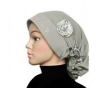 Stone Fancy Women Bonnet Vintage Flapper Turban Headpiece chemo cap headcover
