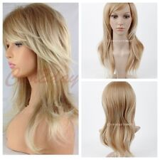 Fashion Lady FULL WOMENS LADIES HAIR WIG 2 TONE BLONDE FLICK & LAYERED LONG WIGS