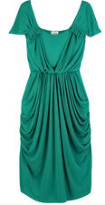 TEMPERLEY LONDON TEAL/EMERALD ALBANY JERSEY DRAPE GODDESS GRECIAN DRESS UK10/US6