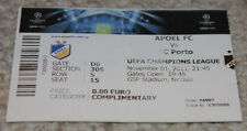 old TICKET CL APOEL Nicosia Cyprus FC Porto Portugal