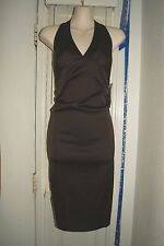 New NWT Donna Rico Brown Halter  Cocktail Formal Evening Dress Sz 6P $158