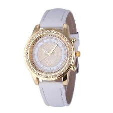 White And Gold Rhinestone Crystal Ladies Watch WITH VELVET GIFT BAG