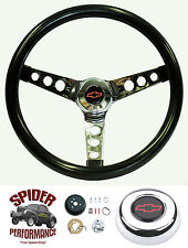1982-1994 S-10 Blazer S-10 Pickup steering wheel BOWTIE GLOSSY GRIP 13 1/2""