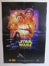 LARGE star wars LEGO POSTER A NEW HOPE episode IV size is 60X42cm A2 promo