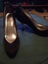 Lady's Woman's High Heels Shoes By New Look - Size 8 -Black -FREE Offer READ ALL