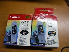New ! 2PK Genuine Canon BCI-21 Black BCI-21 Color